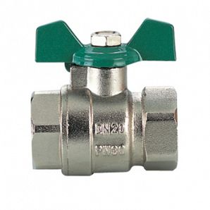 Butterfly handle brass ball valves