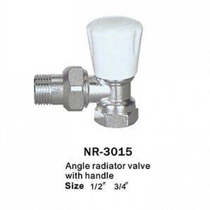 Female angle radiator valves