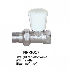 Brass straight radiator valve