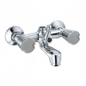 Double lever bathtub faucets