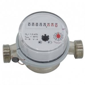 Single Jet Vane Wheel Water Meter
