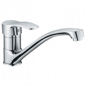 Sink kitchen mixer with casting spout